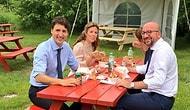 Bir Öğle Yemeğinden 'Mütevazı' Fotoğraf: Kanada Başbakanı Trudeau, Belçika Başbakanı Michel'i Ağırladı
