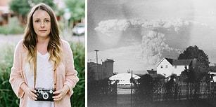 Eskiciden Aldığı Fotoğraf Makinesiyle Volkan Patlamasından Harika Kareler Yakalayan Kadın