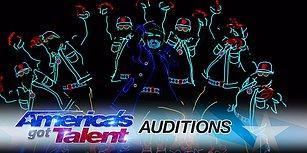 Amerika Yetenek Yarışmasında Muhteşem Işık Dansı Gösterisi