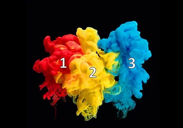 3. 1 ve 3 numaradaki renkleri karıştırırsak hangi rengi elde ederiz?