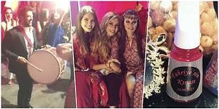 Burak Özçivit Davul Çaldı Fahriye Evcen Oynadı! Birbirinden Renkli Görüntüleriyle Fahriye'nin Kınası!