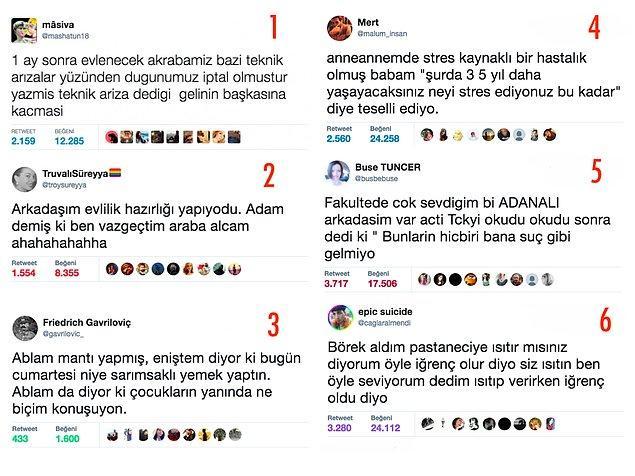 8. Geldik son soruya. Bu tweetlerde bahsi geçen insanlardan hangisi en arızalısı sence?