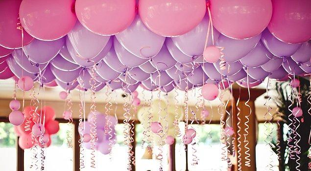 Bu balonlar özel bir dekorasyon ürünü.