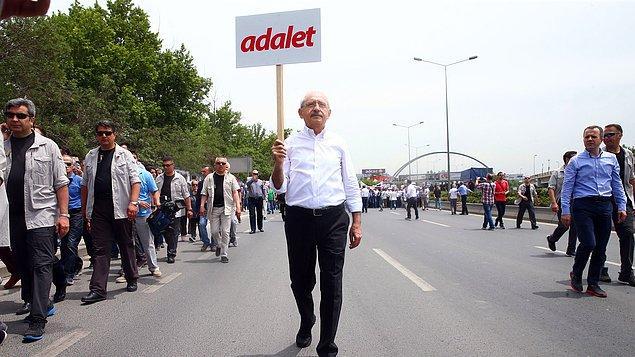 CHP Lideri Kemal Kılıçdaroğlu, Enis Berberoğlu'nun tutuklanmasının ardından bir 'adalet' yürüyüşü başlattı. Ne düşünüyorsunuz?