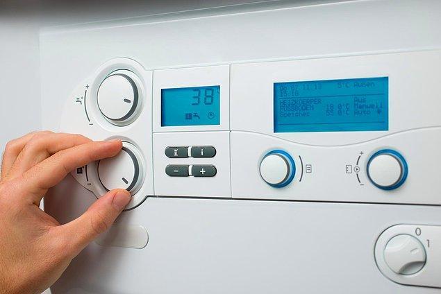 6. Kombinizi düşük ısıda çalıştırın.