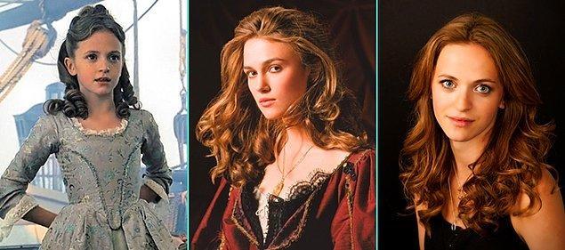 3. Karayip Korsanları: Siyah İncinin Laneti (2003)   Lucinda Dryzek - Keira Knightley - Lucinda Dryzek (Günümüz)