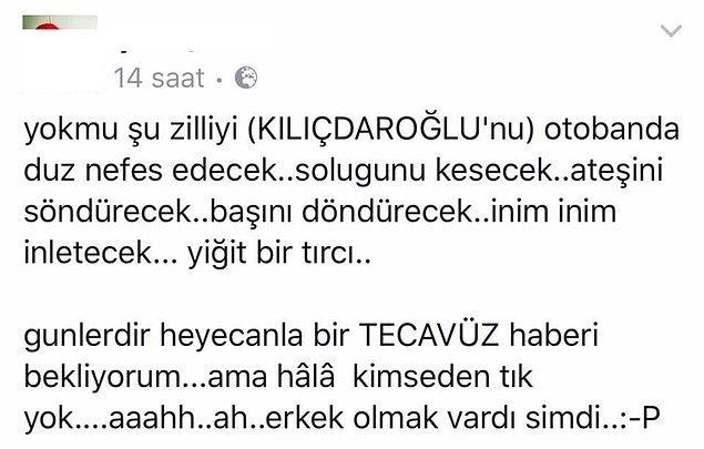 CHP Genel Başkanı Kemal Kılıçdaroğlu'nun başlattığı 'Adalet Yürüyüşü'nün 14. gününde, bir kişinin Facebook hesabı üzerinden yaptığı akıl almaz paylaşım kan dondurdu.