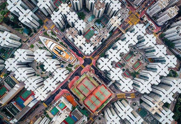17. Dünyanın bir zaman en yoğun olan yaşama alanı Kowloon Duvarlı Şehri 1990'larda yıkılmış olsa da hala geriye kalan anıları var.