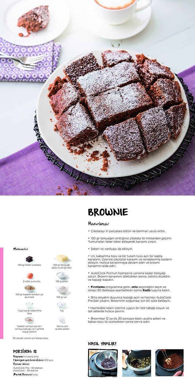 8. Tüm evi pastane açmış gibi kokutmaya gelen bazen ıslak bazen kek kıvamında mis gibi brownie