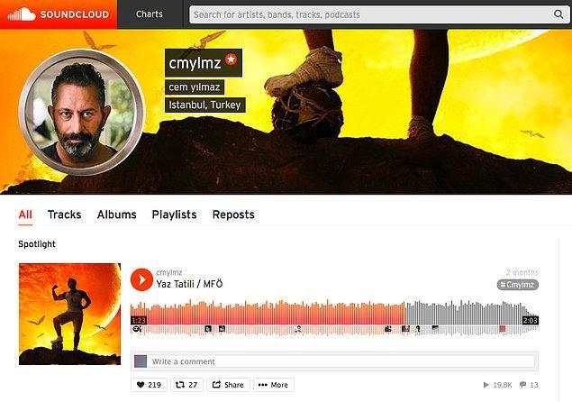 7. Kendi kayıtlarından oluşan bir Soundcloud profilinin olması.
