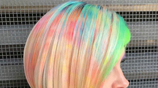 Bu teknikte istenilen kadar sayıda renk kullanılabiliyor!