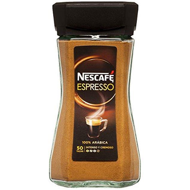6. Kahve konusunda gurme sayılabilecek Erkam ise Nescafe'nin hızlı espressosunu öneriyor.