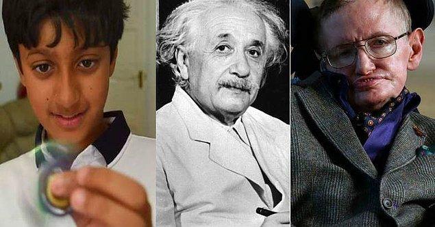 11 yaşındaki bu küçük dahinin, ileride hem Einstein'dan hem de Hawking'den çok daha başarılı bir bilim insanı olması dileğiyle!