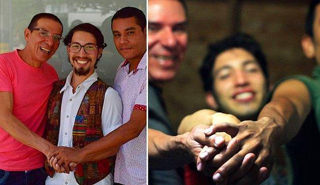 Üçlünün iki üyesi Bermudez ve Rodriguez Kolombiya'nın eşcinsel evlilikleri tanıdığı ilk çift.