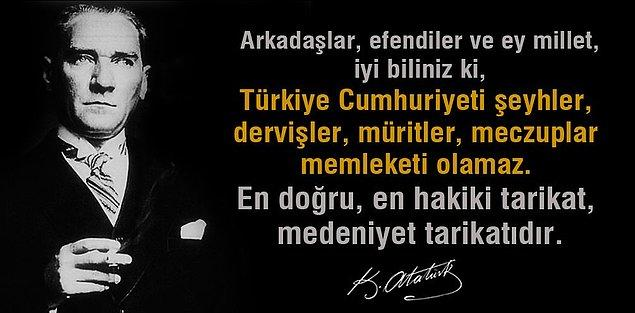3. Atatürk bu sözü ne zaman söylemiştir?