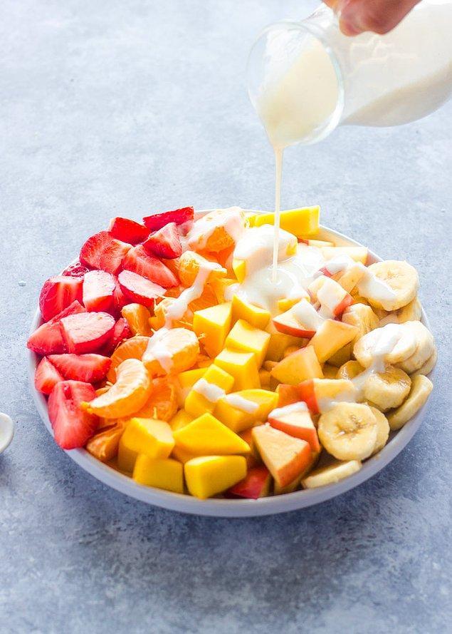1. Sos olarak yoğurt kullanın.
