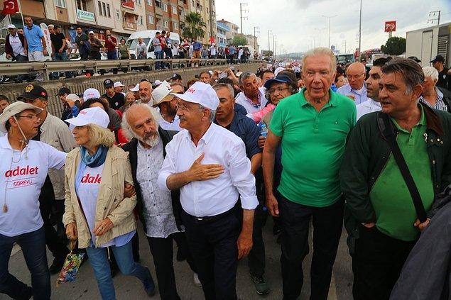 Adalet Yürüyüşü'de 20'nci günün son etabı Körfez'de sona erdi.
