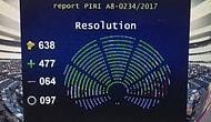 Avrupa Parlamentosu: 'Türkiye ile Müzakereler Askıya Alınsın'