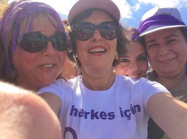 HDP Grup Başkanvekili Filiz Kerestecioğlu da kadın örgütleriyle beraber Adalet Yürüyüşü'ne katıldı.