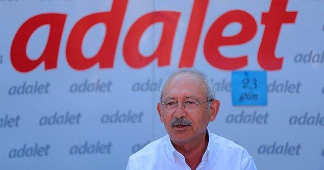 CHP lideri, yürüyüşe başlamadan önce bir açıklama yapmış ve Avrupa Parlamentosu'na seslenmişti  👇