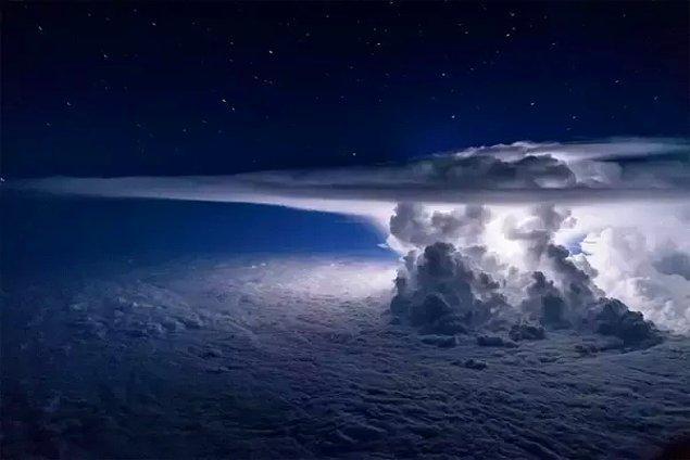 15. Denver üzerinden geçerken denk gelinen ürkütücü olduğu kadar etkileyici fırtına!