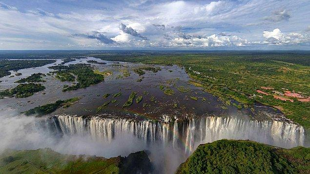 17. Victoria Şelaleri, Zambiya / Zimbabve