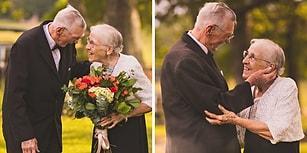 65 Yıldır Aşkla Yaşayan Çiftin Evlilik Yıl Dönümünü Fotoğraflayan Sanatçıdan Romantizm Dolu Kareler