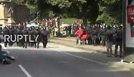 Polisin Geldiğini Gören Protestocu, Star Wars'un Müziğini Islıkla Çalmaya Başladı