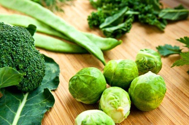 7. Yeşil yapraklı sebzeler
