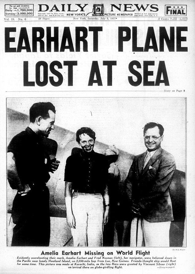 Earhart, son radyo mesajında yakıtlarının azaldığını belirttiği için çoğu insan uçağın denize düştüğünü varsaydı.