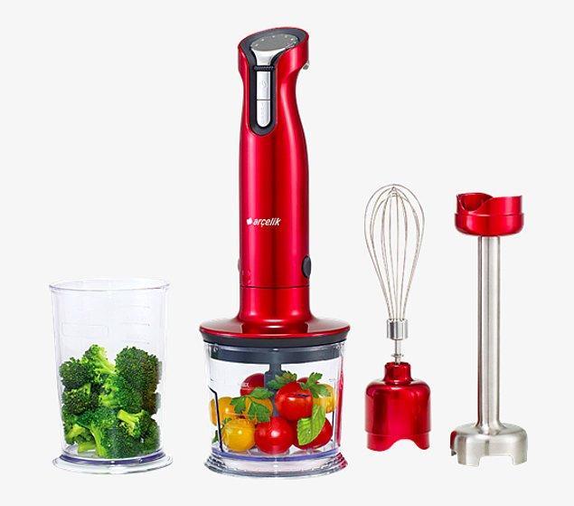 4. Tazeliği hem mutfağınıza, hem sağlığınıza yansıyacak harika meyve-sebze karışımları hazırlamanızı sağlayacak bir el blenderı