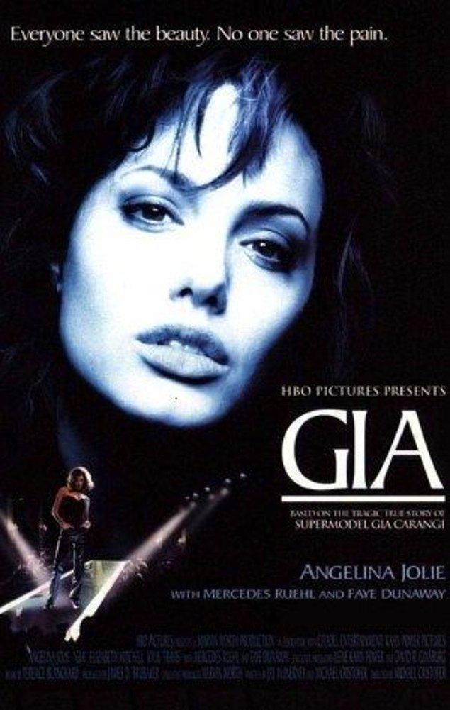 1998 yılında çekilen GIA filmi, Gia Carangi'nin otobiyografi filmidir. Gia'yı Angelina Jolie canlandırmıştır.
