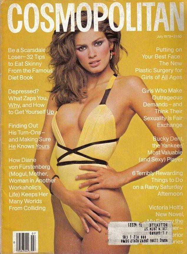 İlk Cosmopolitan Dergisi kapağı Temmuz 1978.