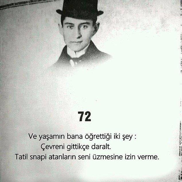 10. Kafka böyle böyle karamsar oldu