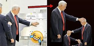 Mike Pence 'Dokunmayın' Yazan NASA Ekipmanına Fütursuzca Dokundu, İnternet Alemi Acımadı