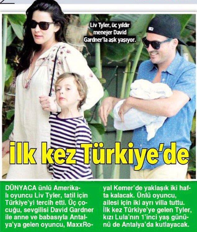 14. Dünyaca ünlü oyuncu Liv Tyler, aile boyu tatilleri için Türkiye'yi tercih etti!