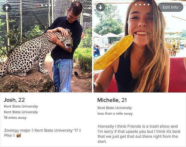İkisi de Kent State University'de okuyorlar. 2014 yılında Tinder'da eşleştiler, ancak hala yüz yüze tanışmadılar.
