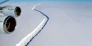 Küresel Isınmanın Sonuçları mı? Antartika'da Dev Bir Buzdağı Yarımadadan Koptu!
