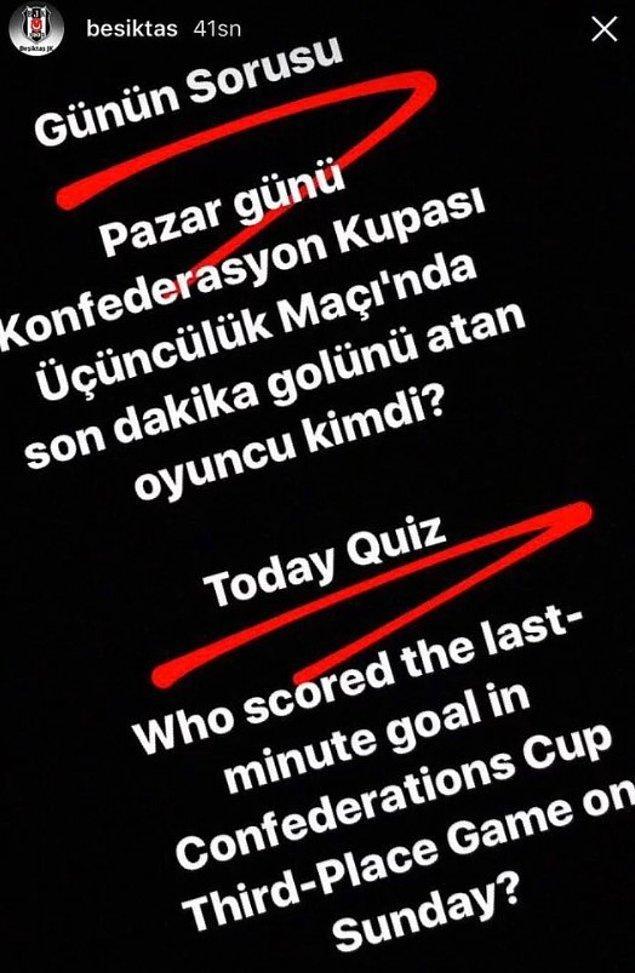 11. Pepe'yi transfer eden Beşiktaş, Instagram hikayesinde ilk bunu paylaşarak taraftarları heyecanlandırmıştı.
