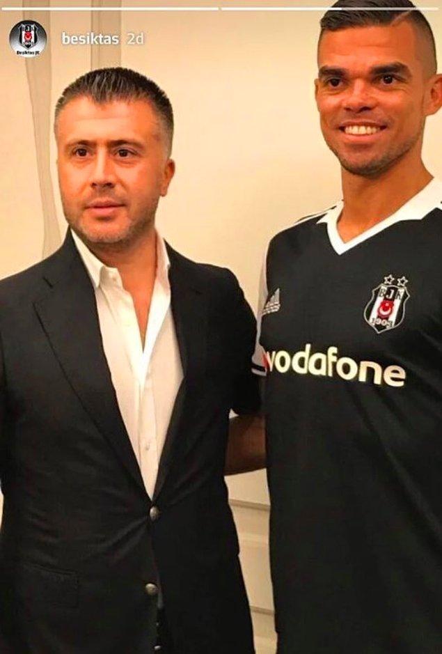 Sonrasında da Pepe'nin Beşiktaş formalı fotoğrafını paylaşarak taraftarlarına müjdeyi vermişti.