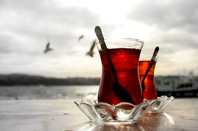 Çay bardağı çıktı!