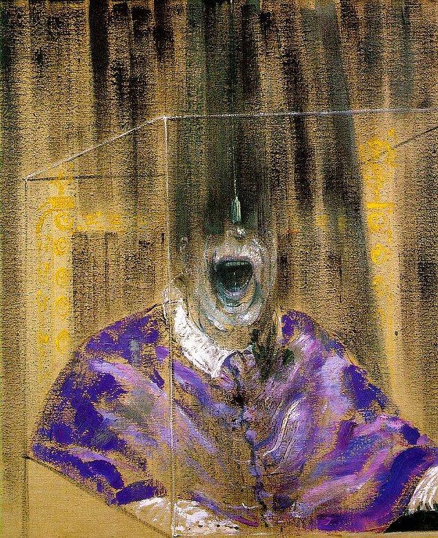 "3. Der Spiegel Trump kapağı - ""Kafa VI"" Francis Bacon, 1949"
