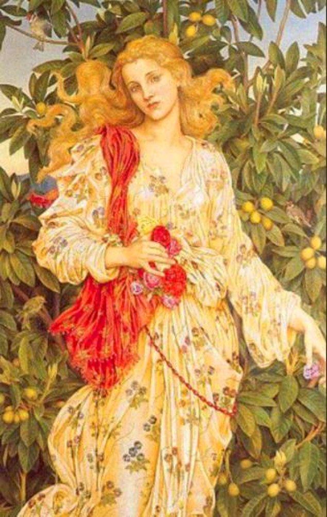 """7. Beyoncé - """"Lady Flora, Çiçeklerin Tanrıçası"""" Evelyn de Morgan, 1880"""