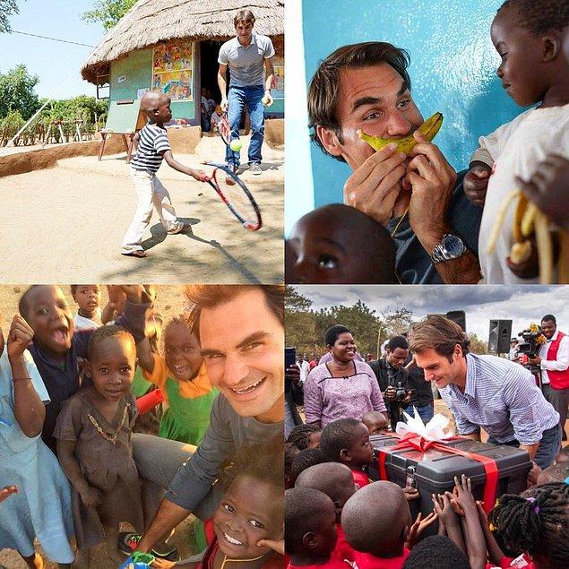 13. Malawi'de tam 81 tane anaokulu açan ünlü tenisçi Federer 👍🏻