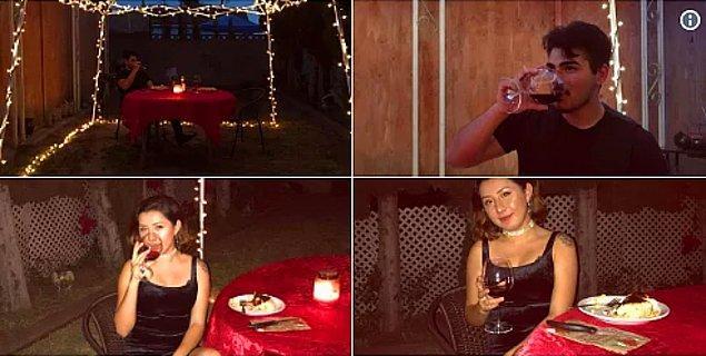 1. Son günlerde birazcık stresli olan sevgilisini arka bahçesine yemeğe çıkaran romantik erkek arkadaş