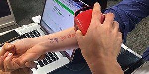 İstediğiniz Bir Tasarımı Saniyeler İçinde Geçici Dövme Olarak Vücudunuza Basabilen Yazıcı!