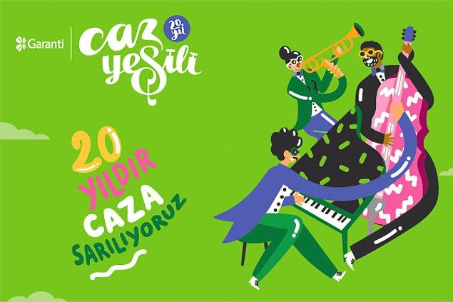 Garanti Caz Yeşili bu sene 20. yılını kutluyor! 20. yılımızda sizi de Caz Yeşili konserlerimize bekliyoruz!