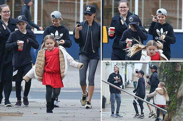 Bu mutlu ailenin en küçük üyesi Harper Beckham doğal olarak annesinin geçmişte bir dünya yıldızı olduğundan haberdar bile değil.