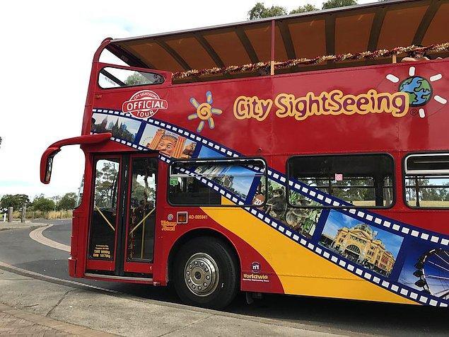 David ve Sean şanslarını bir de şehir turu yapan turist otobüsünde denedi ama otobüsün şoförü çetin ceviz çıkınca ikili fazla ısrar edemedi.