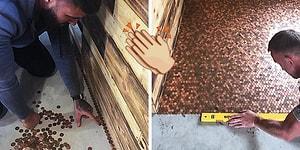 Dükkanına Yer Döşemesi İçin 1000 Poundluk Fatura Çıkınca Yeri Direkt Madeni Parayla Kaplayan Adam